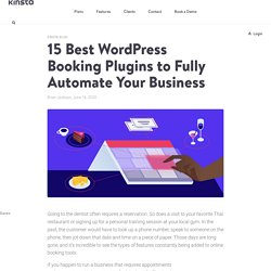 15 Best WordPress Booking Plugins to Fully Automate Your Business