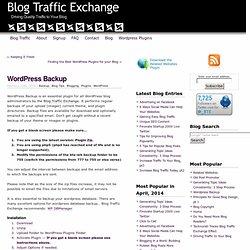 » Wordpress Backup
