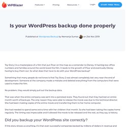Is your WordPress Backup done right?