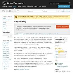 Blog-in-Blog