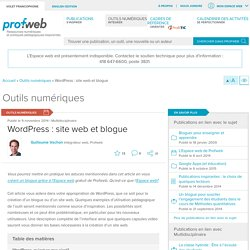 WordPress : site web et blogue