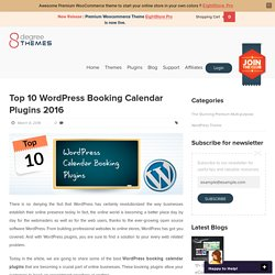 Top 10 WordPress Booking Calendar Plugins 2016