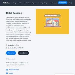 WordPress Hotel Booking Plugin - MotoPress