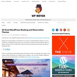 20 Great WordPress Booking and Reservation Themes