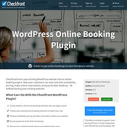 Wordpress Booking Plugin & Reservation System