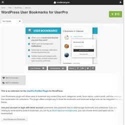 WordPress User Bookmarks for UserPro - WordPress