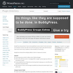 BuddyPress Groups Extras