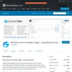 Form Builder Plugin – Gutenberg Forms – WordPress plugin