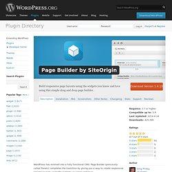 Page Builder by SiteOrigin