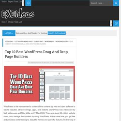 Top 10 Best WordPress Drag And Drop Page Builders