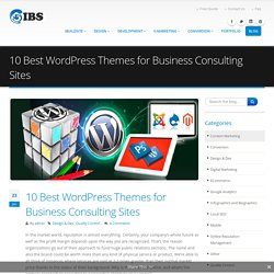 10 Best Wordpress Themes for Business Consulting Sites
