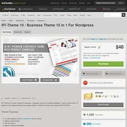 RT-Theme 10 / Business Theme 10 in 1 For Wordpress - WordPress