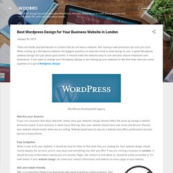 Best Wordpress Design for Your Business Website in London