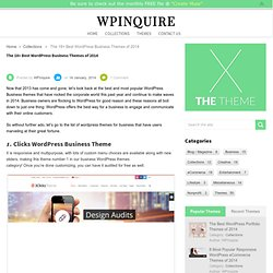 The 18+ Best WordPress Business Themes of 2014