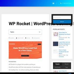 WordPress Caching Plugin Optimization in 2020