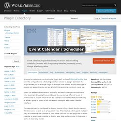 Event Calendar / Scheduler