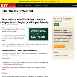 How to Make Your WordPress Category Pages Search Engine (and People) Friendly