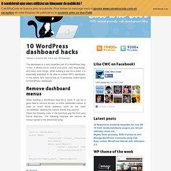 10 WordPress dashboard hacks - CatsWhoCode.com