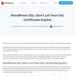 WordPress SSL: Is Your Site SSL Certificate Valid?
