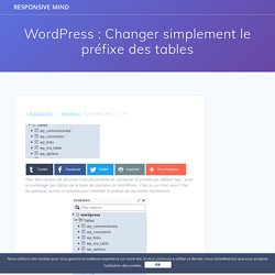 WordPress : Changer simplement le préfixe des tables