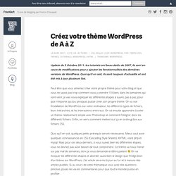 Créez votre thème Wordpress de A à Z