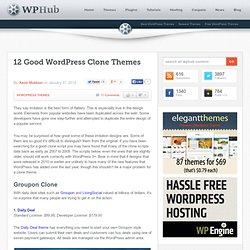 12 Good WordPress Clone Themes