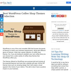 Best WordPress Coffee Shop Themes Collection