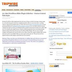 45 Best WordPress Slider Plugin Collection