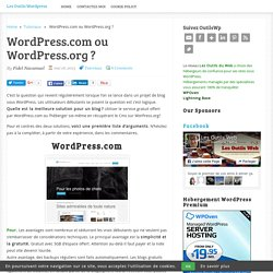 Wordpress.com ou Wordpress.org ?