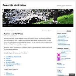 Fuentes para WordPress