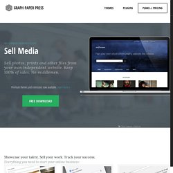 Sell Media - a free WordPress e-commerce plugin for creatives