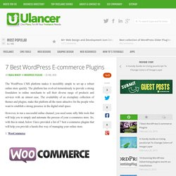 7 Best WordPress E-commerce Plugins
