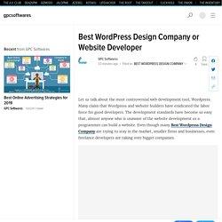 Best WordPress Design Company or Website Developer