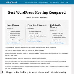 Best WordPress Hosting Compared: We Did the Research