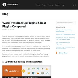 WordPress Backup Plugins: 5 Best Plugins Compared