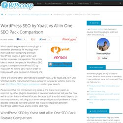 WordPress SEO by Yoast vs All in One SEO Pack Comparison - WPscoop