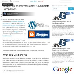 Blogger vs. Wordpress.com: A Complete Comparison