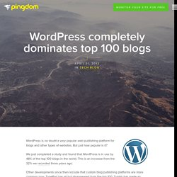 WordPress completely dominates top 100 blogs