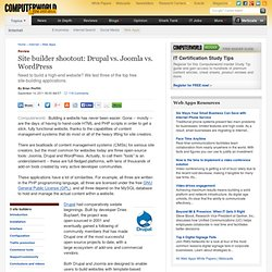 Site builder shootout: Drupal vs. Joomla vs. WordPress