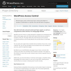 WordPress Access Control
