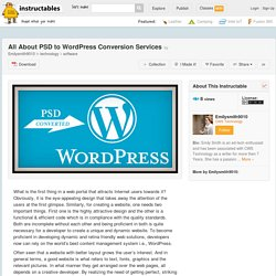 All About PSD to WordPress Conversion Services - All