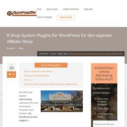 8 Shop System Plugins für WordPress für den eigenen Affiliate-Shop - Crazy4Marketing.de