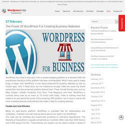 The Power Of WordPress For Creating Business Websites