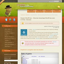 Dossier WordPress – Sécuriser davantage WordPress avec le fichier .htaccess - WordPress