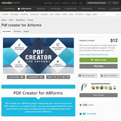 WordPress - Pdf creator for Arforms