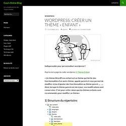 WordPress: créer un thème «enfant»