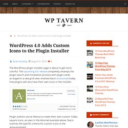 WordPress 4.0 Adds Custom Icons to the Plugin Installer