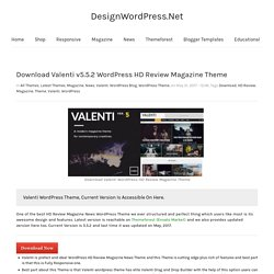 Download Valenti WordPress Theme - Download High Performance Wordpress Theme