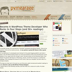 Become A WordPress Theme Developer Who Rocks In Four Steps (and