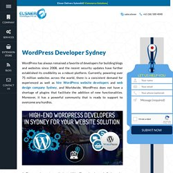 Dedicated WordPress Developer in Sydney, Melbourne - Elsner
